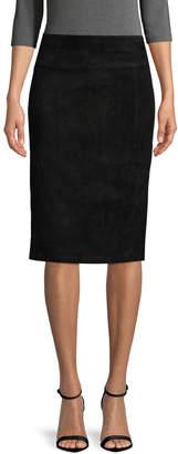 Alice + Olivia Women's Tani Leather Slit Pencil Skirt