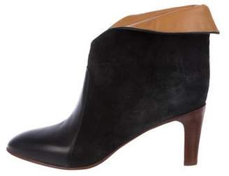 Chloé Suede Fold-Over Boots