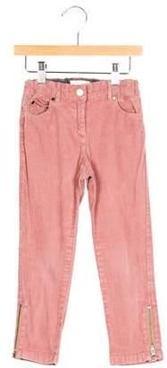 Stella McCartney Girls' Zip-Accented Corduroy Pants