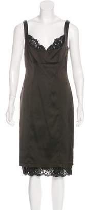 T by Tadashi Lace-Trimmed Midi Dress w/ Tags