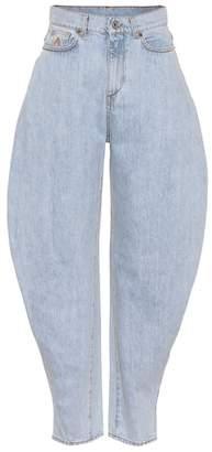 ATTICO High-rise cavalier jeans