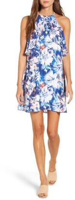 Women's Charles Henry Ruffle Shift Dress $94 thestylecure.com