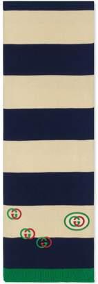 Gucci Cotton scarf with Interlocking G