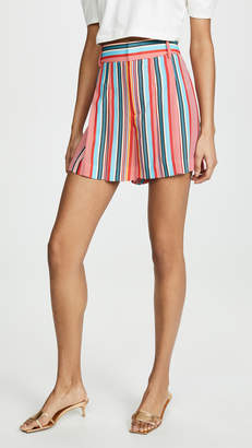 Alice + Olivia Scarlet High Waist Flutter Shorts