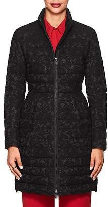 Valentino WOMEN'S LACE & TECH-FAILLE PUFFER COAT
