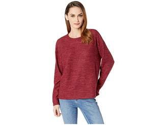 Nally & Millie Long Sleeve Boxy Top with Side Slit
