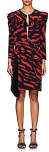 Givenchy Women's Abstract-Print Silk Dress - Red