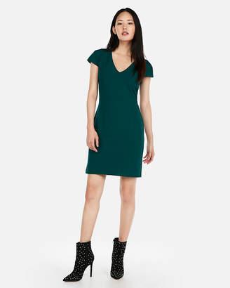 Express Petite Tulip Sleeve Sheath Dress