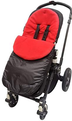 Petite Star Footmuff/Cosy Toes Compatible with Liner Buggy Pram Zia/Kurvi/Zukoo Red