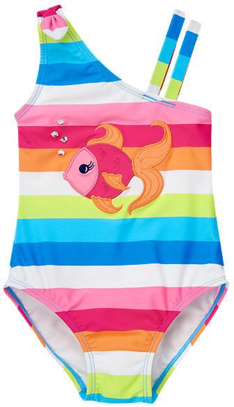 Gymboree Gem Fish Stripe One-Piece Swimsuit