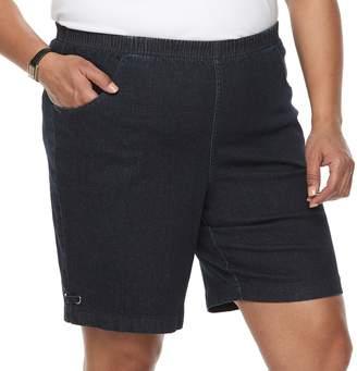 Croft & Barrow Plus Size Grommet Detail Jean Shorts