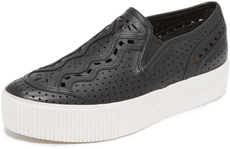 Ash Kingston Platform Slip On Sneakers $215 thestylecure.com