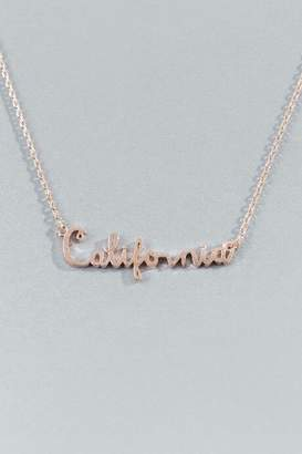 francesca's California Script Pendant in Rose Gold - Rose/Gold