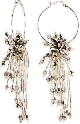 Panacea Beaded Hoop Drop Earrings