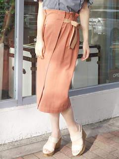 MERCURYDUO (マーキュリーデュオ) - ツイルラップ風ミディスカート