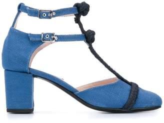 Leandra Medine rope t-strap pumps