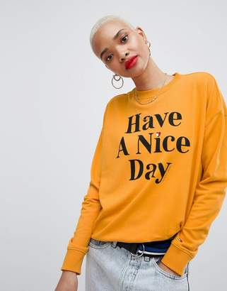 Tommy Jeans Slogan Have A Nice Day T-Shirt