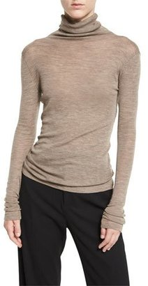 Vince Cowl Turtleneck Knit Sweater, Coffee $165 thestylecure.com