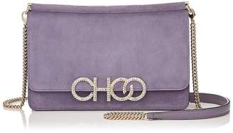 Jimmy Choo Suede Sidney Cross Body Bag
