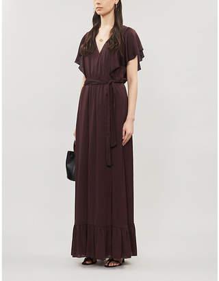 Designers Remix Elda ruffled crepe wrap dress