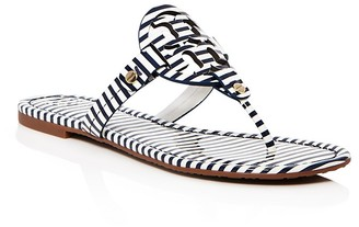 Tory Burch Miller Striped Thong Sandals $195 thestylecure.com