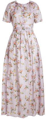 Brock Collection Dean Floral Printed Cotton Dress