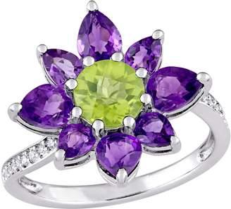 Laura Ashley Jewelry Sterling 2.60 cttw Multi-GemstoneRing