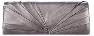 Christian Louboutin Pleated Leather Clutch w/ Tags