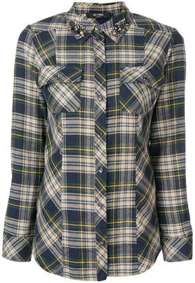 Twin-Set MY TWIN TWINSET collection embellished collar plaid shirt