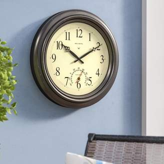 """Co Darby Home Oversized Humphrey 18"""" Round Outdoor Radio-Controlled Clock"""