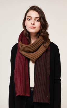 Soia & Kyo FERRARA colour block rib knit scarf