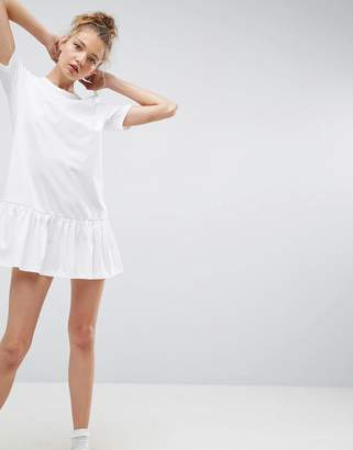 ASOS Mini Drop Hem T-Shirt Dress $29 thestylecure.com