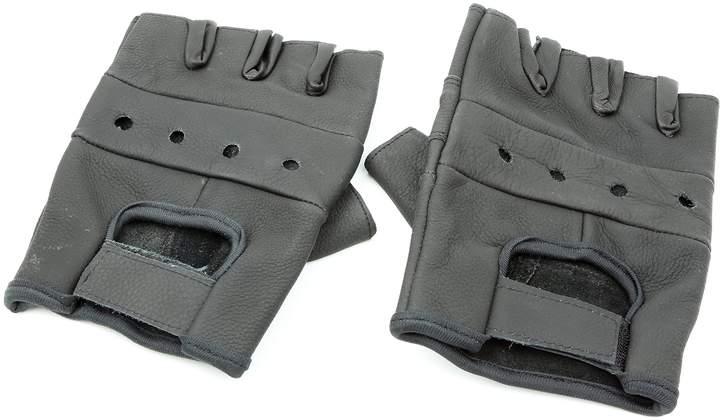 First MFG Leather Heavy Duty Lightweight Fingerless Gloves Pack of 2 (XXL)