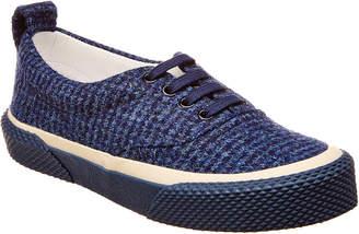 Celine Lace-Up Tweed Sneaker