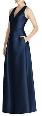 Alfred Sung Sleeveless Sateen Twill Gown