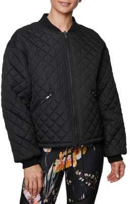Betsey Johnson Reversible Quilted Bomber Jacket
