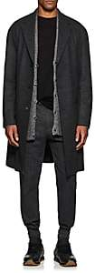 John Varvatos Men's Oversized Wool-Cashmere Overcoat - Dark Gray