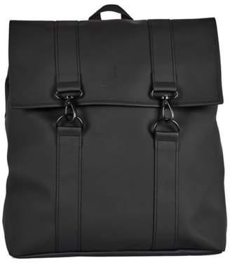 Rains New Mens Black Messenger Polyester Backpack Backpacks