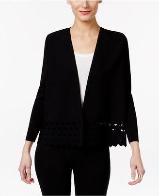 Alfani Prima Cutout Open-Front Cardigan, Only at Macy's $89.50 thestylecure.com
