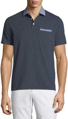 Original Penguin Men's Contrast-Collar Soft Jersey Casual Polo Shirt