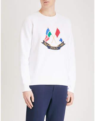Polo Ralph Lauren Cross Flags cotton-jersey sweatshirt