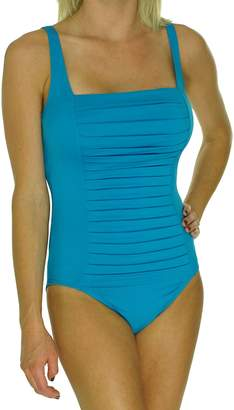 Calvin Klein Women's Solid Pleated One-Piece Swimsuit