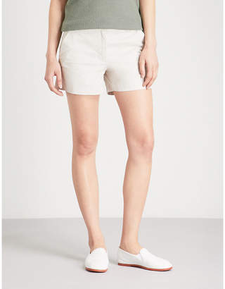 The White Company Mid-rise stretch-cotton shorts