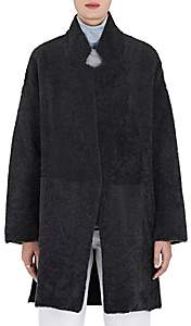 Boon The Shop Women's Lamb Fur & Wool-Cashmere Coat - Anthracite