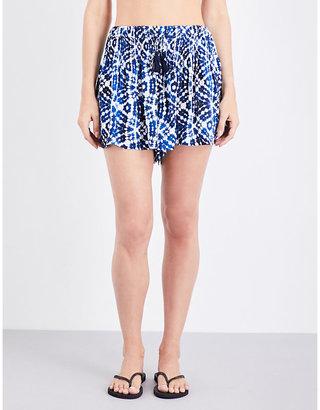 Seafolly Bahama blue shibori skorts $71 thestylecure.com