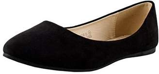 Bella Marie Angie-53 Women's Classic Pointy Toe Ballet Flat Shoes