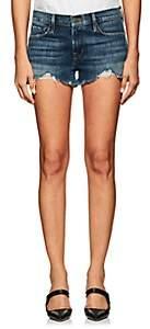 Frame Women's Le Cutoff Distressed Denim Shorts-Dk. Blue
