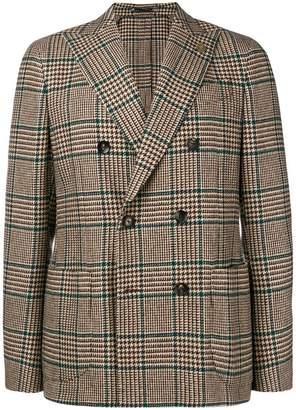 Lardini double-breasted checked blazer
