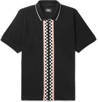 Stussy Julian Intarsia Cotton-Piqué Polo Shirt