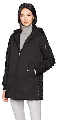 Steve Madden Women's Long Bomber Jacket